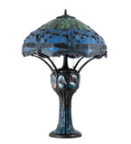 "33""H Tiffany Hanginghead Dragonfly Table Lamp"