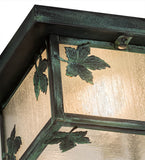 "10""Sq Hyde Park Maple Leaf Outdoor Flushmount"