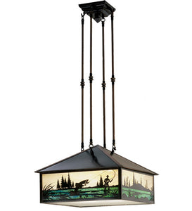 "17.5""Sq Fly Fishing Ceiling Pendant"