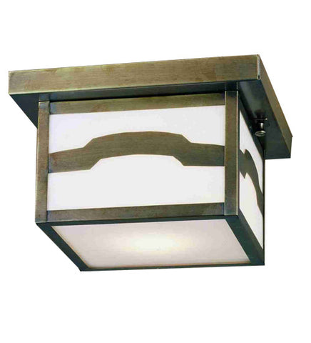 "10""Sq Hyde Park Mountain View Outdoor Flushmount"