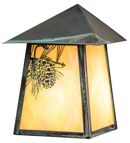 "9""W Stillwater Pine Cone Outdoor Wall Sconce"