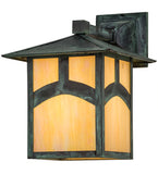 "9""W Seneca Hill Top Solid Mount Outdoor Wall Sconce"