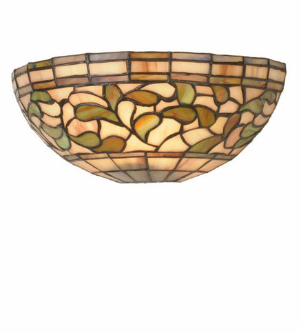 "12""W Turning Leaf Stained Glass Wall Sconce"