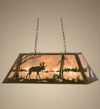 "33""L Moose At Lake Island/Billiard Pendant"