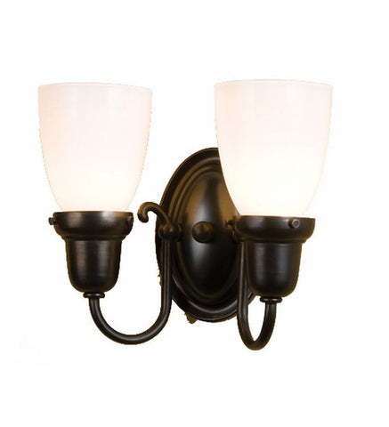 "10""W Saratoga Goblet 2 Lt Wall Sconce"