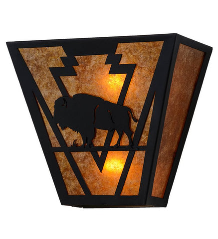 "13""W Lone Buffalo Wall Sconce"