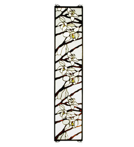 "9""W X 42""H Magnolia Stained Glass Window"