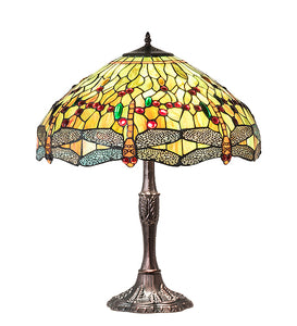 "26""H Tiffany Hanginghead Dragonfly Table Lamp"