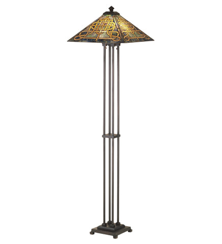 "63""H Knotwork Mission Floor Lamp"