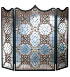 "44""W X 36""H Victorian Beveled Folding Fireplace Screen"