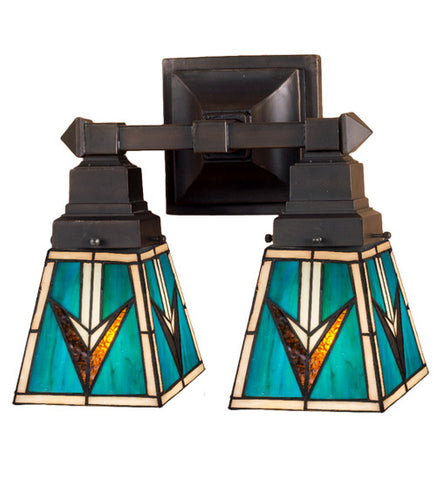 "12""W Valencia Mission 2 Lt Wall Sconce"