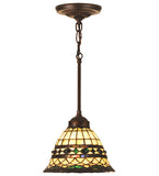 "8""W Tiffany Roman Mini Ceiling Pendant"