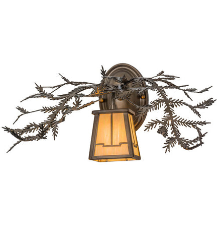 "16""W Pine Branch Lodge Wall Sconce"