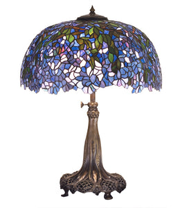 "29""H Tiffany Laburnum Floral Table Lamp"
