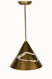"12""W Cone Mountain View Rustic Pendant"