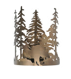 "11""W Bear Through The Trees Wildlife Wall Sconce"