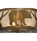 "22""W Wildlife Bear Flushmount"
