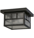 "10""Sq Hyde Park Double Bar Mission Outdoor Flushmount"