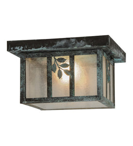 "10""Sq Hyde Park Sprig Outdoor Flushmount"