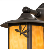 "8""W Fulton Dragonfly Outdoor Wall Sconce"