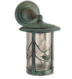 "8""W Fulton Solid Mount Song Birds Outdoor Wall Sconce"