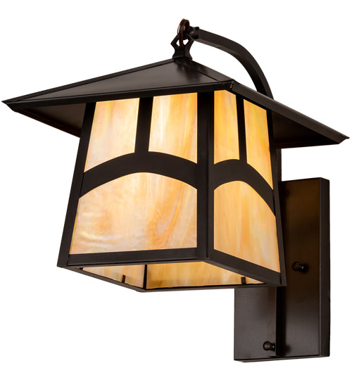 Stillwater Hill Top Curved Arm Mission Wall Sconce