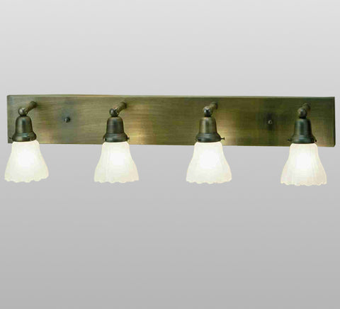 "36""W Revival Oyster Bay Ruffle 4 Lt Vanity Light"