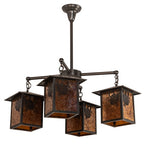 "32""W Seneca Winter Pine 4 Lt Lodge Chandelier"