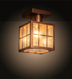 "6""Sq Hudson Welcome Lantern Outdoor Flushmount"