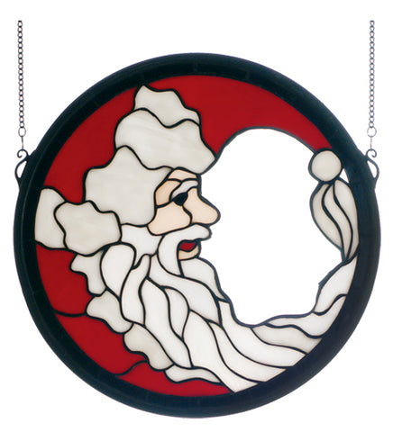 "15"" Round Crescent Santa Window"