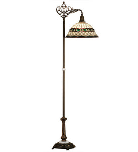 "70""H Tiffany Roman Bridge Arm Floor Lamp"
