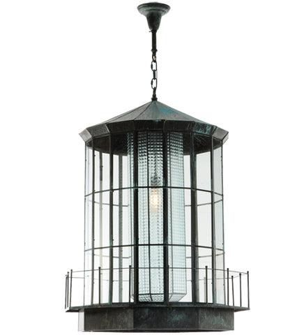 "28.5""W Lighthouse Lantern Outdoor Pendant"