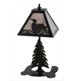 "15""H Loon Wildlife Rustic Lodge Table Lamp"