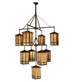 "48""W Church Street 9 Lt Mission Hanging Lantern Chandelier"