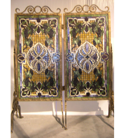 "52""W X 63""H Grapevine Tiffany Room Divider"