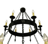 "65.5""W Warwick 18 Lt Two Tier Gothic Chandelier"