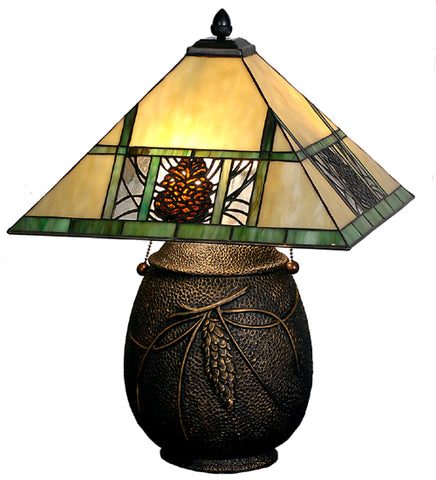 "19.5""H Pinecone Table Lamp"