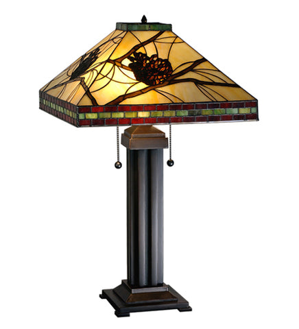 "24""H Pinecone Rustic Table Lamp"