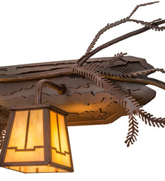 38 5 W Pine Branch Valley View 3 Lt Vanity Light Ships Free Shop Now Smashing Stained Glass Lighting