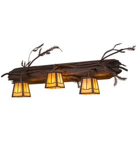 "38.5""W Pine Branch Valley View 3 Lt Vanity Light"