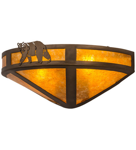 "16""W Northwoods Lone Bear Wall Sconce"