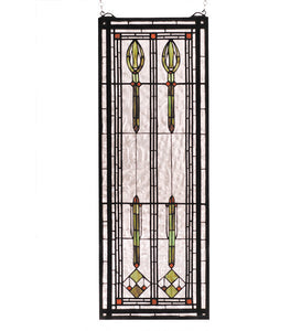 "11""W X 30""H Spear of Hastings Sidelight Stained Glass Window"
