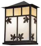 "12""W Seneca Maple Leaf Outdoor Wall Sconce"