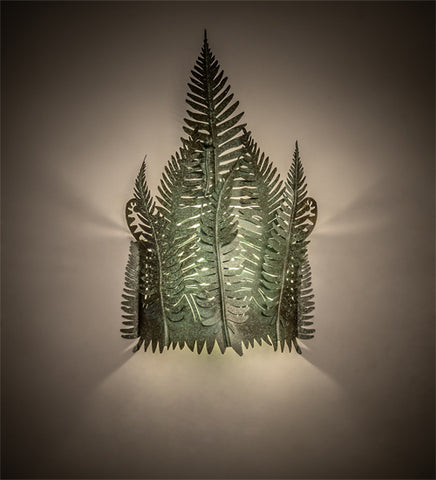 "16""W Lodge Fern Wall Sconce"