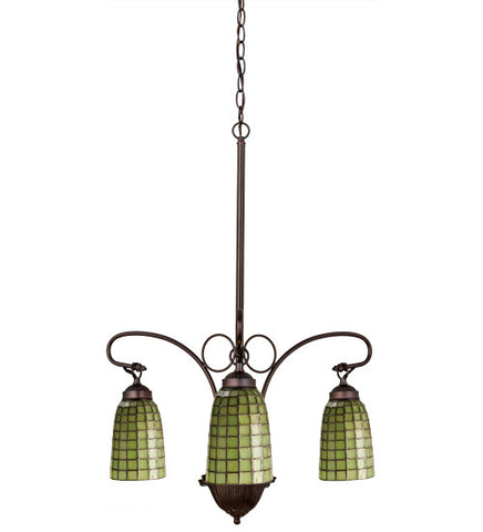 "20.5""W Terra Verde 3 Lt Arts & Crafts Chandelier"