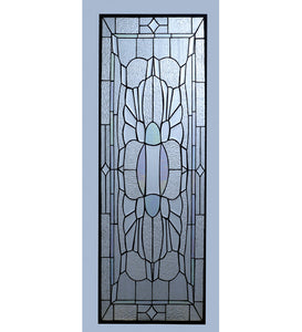 "15""W X 43""H Beveled Glass Tiffany Window"