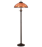 "65""H Elan Victorian Tiffany Floor Lamp"