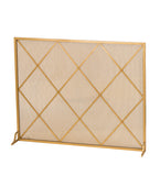 "45.25""W X 37""H Diamonds Fireplace Screen"