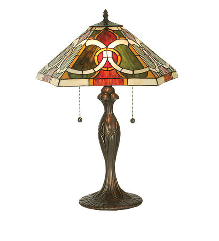 "22.5""H Deco Stained Glass Moroccan Table Lamp"
