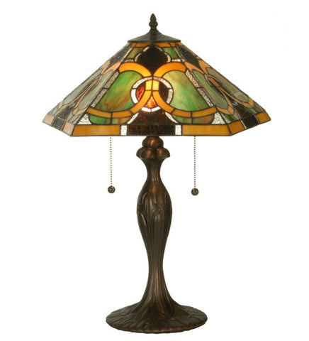 "22.5""H Moroccan Stained Glass Table Lamp"